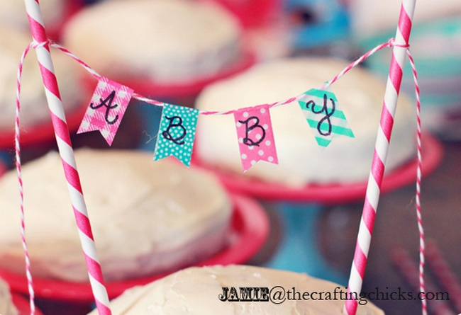 DIY Mini Cake Washi Tape Bunting