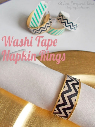 DIY Washi Tape Napkin Rings