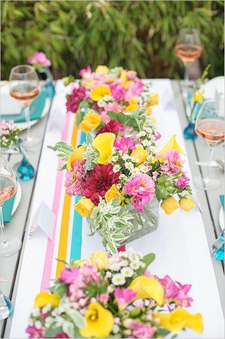 DIY Washi Tape Wedding Table Runner