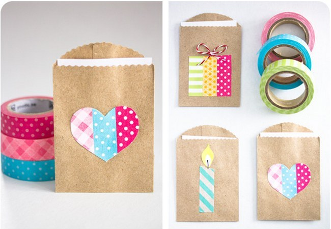 DIY Washi Tape Gift Favor Bags