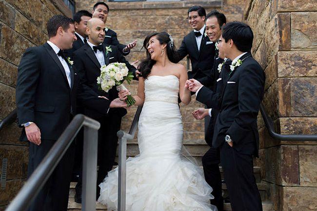 black white pink wedding ideas