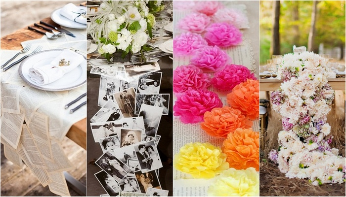 16 DIY Wedding Table Runner Ideas