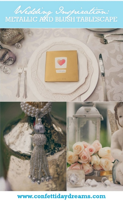 Metallic and Blush Tablescape Wedding Inspiration