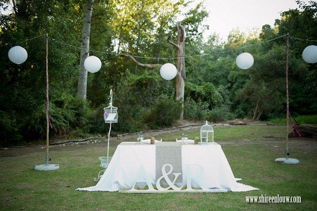 Outdoor Picnic Garden Wedding Franschhoek Real Bride