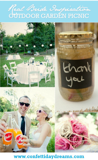 Outdoor Picnic Garden Wedding Franschhoek {Real Bride}