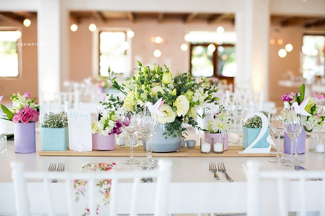 Pretty in Pastels - Kleinevalleij {Real Wedding}