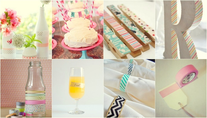 15 DIY Washi Tape Wedding Ideas