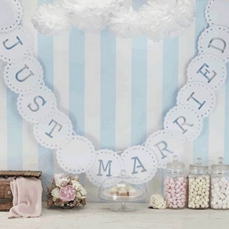 ConfettiDaydreams That Little Shop Give Away - Vintage Lace Just Married Bunting