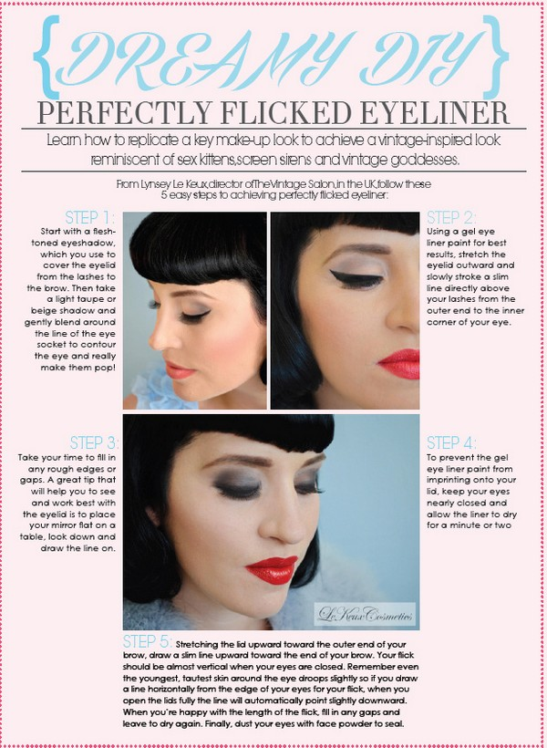 DIY Make-Up Tutorial - Perfectly Flicked Eyeliner