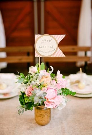 DIY Wedding Table Number Ideas