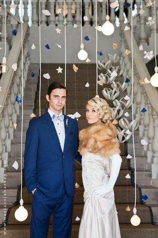Easy DIY Paper Mobiles Wedding Backdrop
