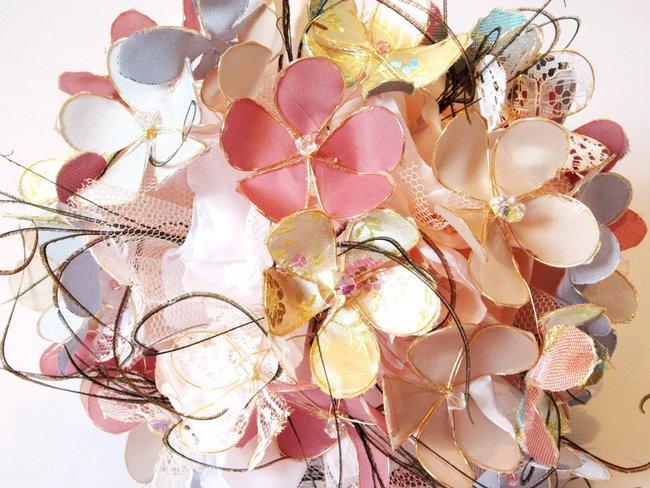 Heirloom Hydrangea Fabric Bouquet