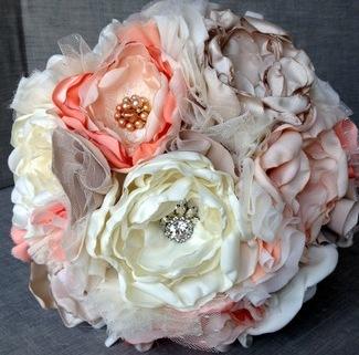 Heirloom Bouquet - Vintage Romance Fabric Flower Bouquet