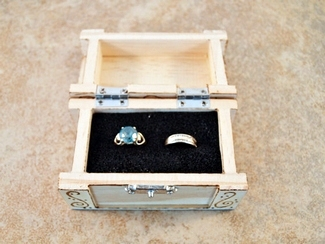 Rustic Ring Bearer Wood Chest