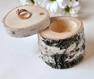 Rustic Birch Branch Ring Box