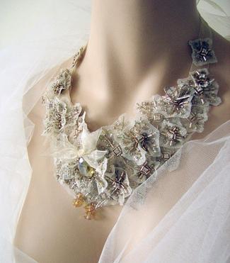 Vintage Bridal Bibs - Beaded Bridal Bib