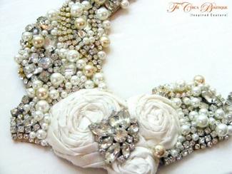 Vintage Bridal Bibs - Bejewelled Bridal Bib