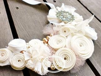 Vintage Bridal Bibs - Twirl Bib