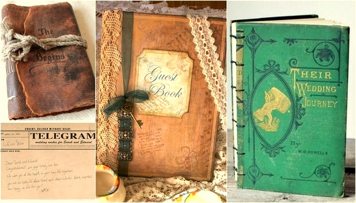 Trendy Tuesday: Vintage Wedding Guest Books