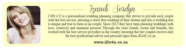 Wedding Expert Profile - Izandi Ido4u