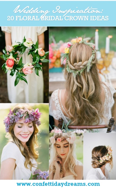 20 Floral Bridal Crowns and Wedding Wreath Ideas