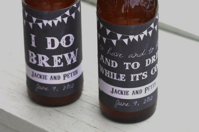 Chalkboard Wedding Drink Labels