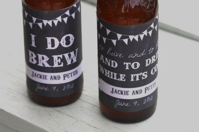 Chalkboard Wedding Drink Labels