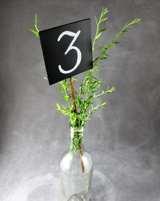 Chalkboard Wedding Table Number Stakes