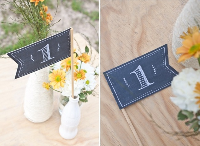Chalkboard Flag Table Numbers