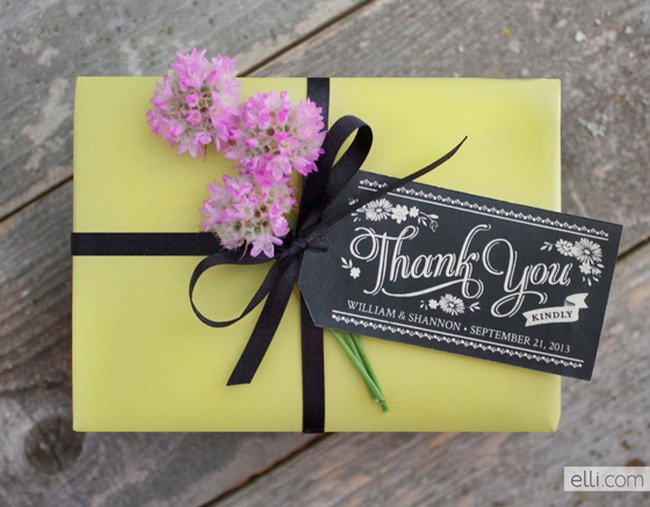 Chalkboard Wedding Gift & Favour Tags
