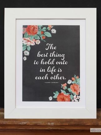 Chalkboard Wedding Love Quote Print