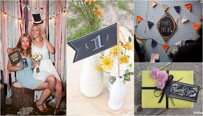 Trendy Tuesday: Chalkboard Wedding Ideas