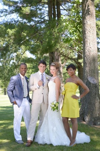 Citrus Navy Country Club Wedding Ideas