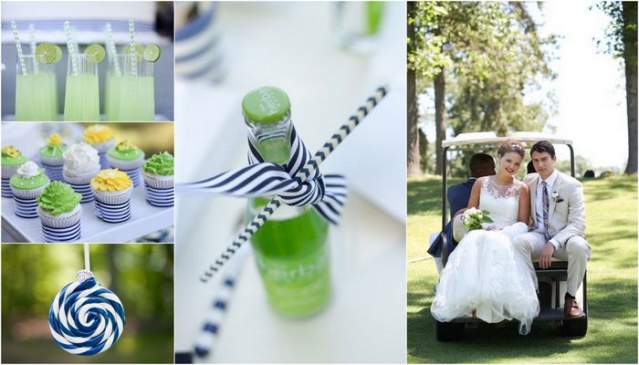 Citrus & Navy Country Club Wedding Shoot