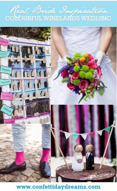 Colourful Winelands Wedding Real Bride