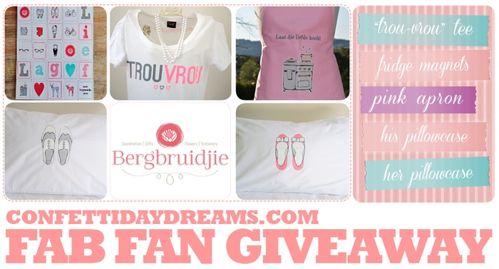 Bergbruidjie & ConfettiDaydreams Fan Give-Away