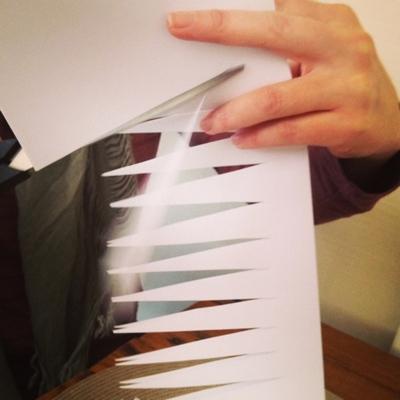 DIY Paper Wedding Lamps {Tutorial} Step 2
