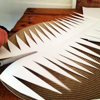 DIY Paper Wedding Lamps {Tutorial} Step 3