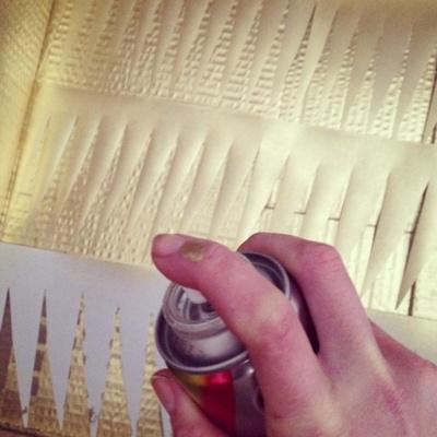DIY Paper Wedding Lamps {Tutorial} Step 4