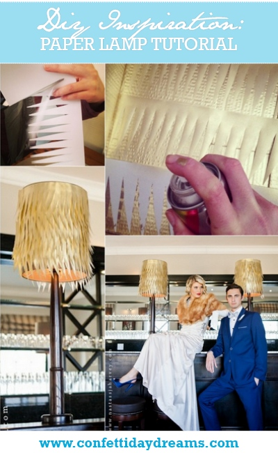 DIY Paper Wedding Lamps Tutorial