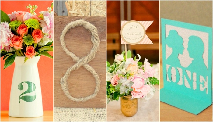20 DIY Wedding Table Number Ideas