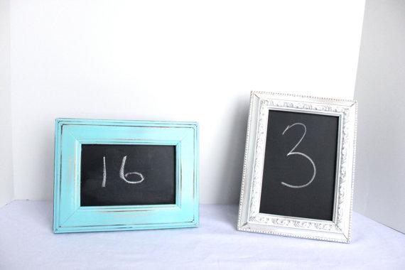 Diy chalkboard table number