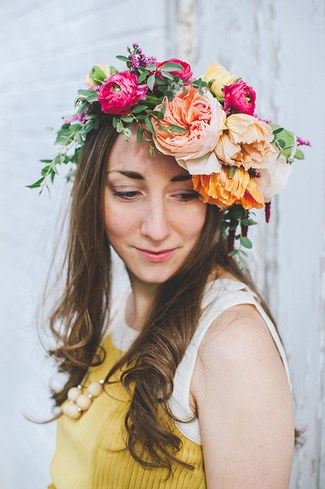 Floral Bridal Crowns & Flower Wreaths 03