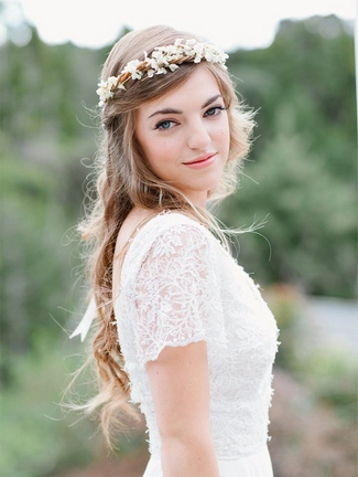 Floral Bridal Crowns & Flower Wreaths 12