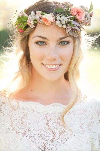 Floral Bridal Crowns & Flower Wreaths 14