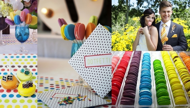 Polka dot rainbow wedding theme inspiration board junglespirit Gallery