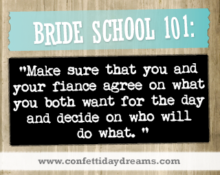 Real Bride Advice - Agree on responsibilities