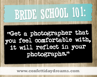Real Bride Advice - Photographer