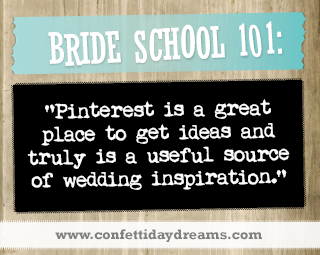 Real Bride Advice - Pinterest