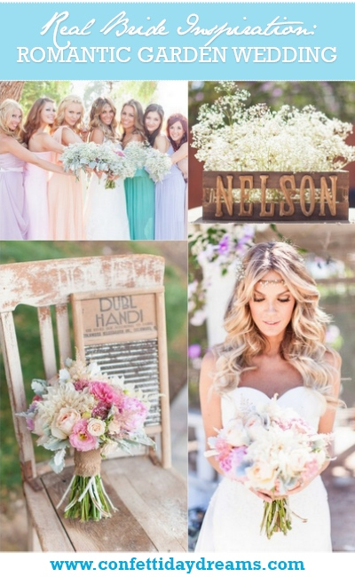 Romantic & Rustic Garden Wedding in California Real Bride